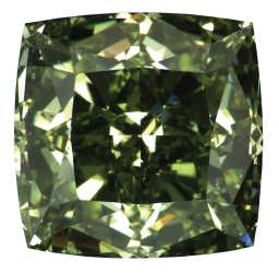 This intense green diamond, of over two carats, was displayed by Diarough.