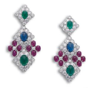 Gemstone and silver earrings by Beauty Gems.