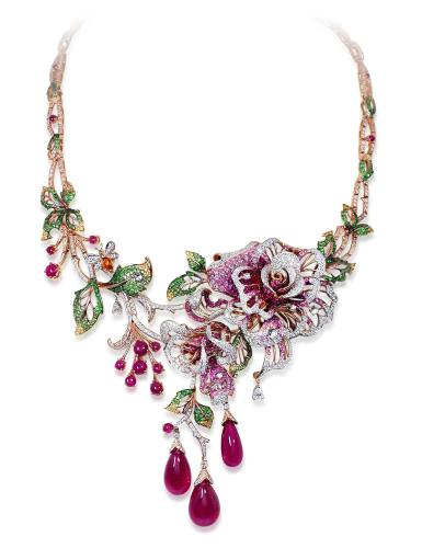 Multi-gem necklace by Blue River.