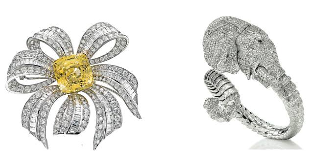 Brooch by Picchiotti & Ring by Roberto Coin.